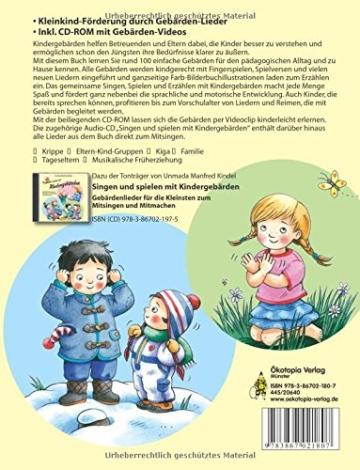Singen, spielen, erzählen mit Kindergebärden (Buch inkl. CD-ROM): Lieder, Fingerspiele und Reime mit den Händen begleiten - für Kinder von 0-4 Jahren - 2
