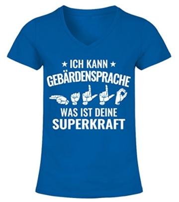 teezily Gebärdensprache, was IST Deine Superkraft? - Frauen T-Shirt - Royal Blau - 1